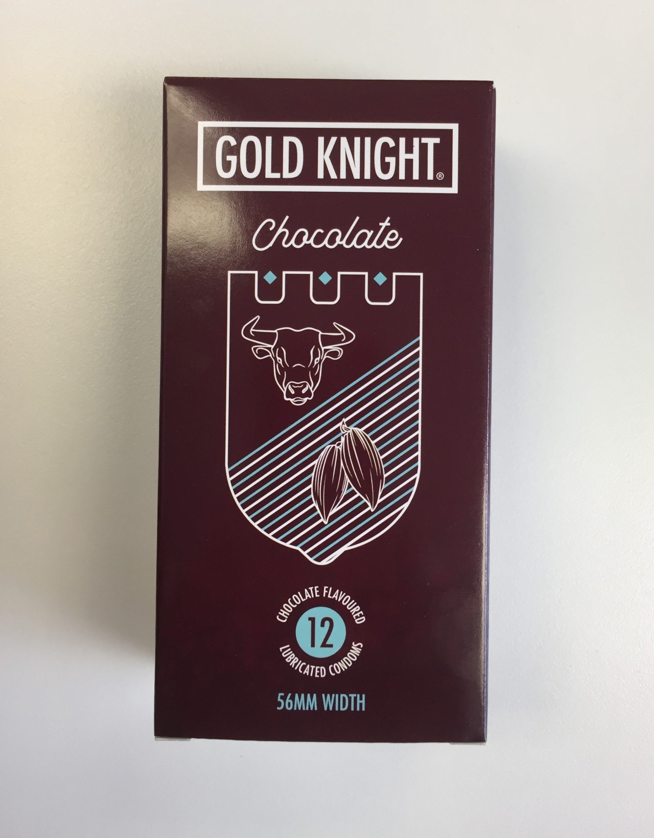 Gold Knight Condoms - Chocolate Flavoured - Box of 12